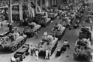 Сборочный цех танка M4 Sherman